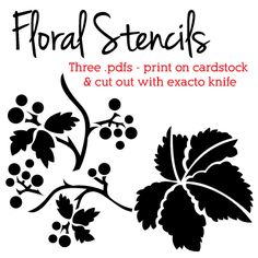 #free #download for floral stencils