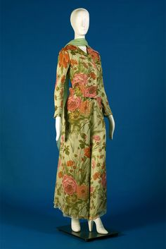 Blouse and pants of floral printed silk chiffon, Stavropoulos, Spring 1974, KSUM 1991.4.7 a-c.