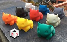 Bulbasaur Planter 3D Printed от 6123D на Etsy