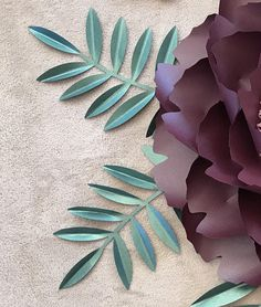extra paper flower leaves AS ADD ON only/Baby shower/Bridal shower/Wedding favours/Thank you gifts/Sweet table decor Crepe Paper Flowers Tutorial, Crepe Paper Roses, Paper Flowers Craft, Paper Flower Wall, Flower Crafts, Wall Flowers, Paper Crafts, Alternative Bouquet, Paper Bouquet