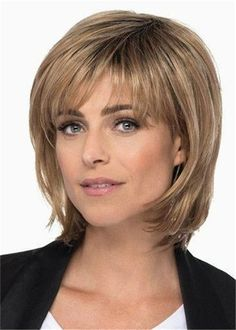 HEATHER by Estetica on Sale Buy Online, Wigs Ship Fast Heather by Estetica has a timeless classical look . It is a Medium Length Layered Bob with Soft Bangs & Face Asymmetrical Bob Haircuts, Stacked Bob Hairstyles, Medium Bob Hairstyles, Pretty Hairstyles, Layered Bob Haircuts, Hairstyles Videos, Short Haircuts, Medium Length Layered Bob, Layered Bob With Bangs