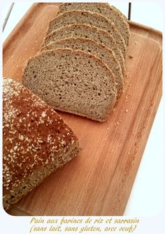 soft bread without gluten, gums, inspired by the Crusty Ball Healthy Bread in 5 Minutes a Day - MakanaiMakanai Sans Gluten Vegan, Sem Gluten Sem Lactose, Pan Sin Gluten, Foods With Gluten, Lactose Free, Gluten Free Cooking, Gluten Free Recipes, Patisserie Sans Gluten, Easy Bread Recipes