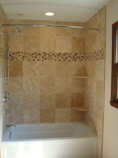 travertine tile shower - Google Search