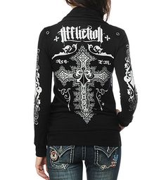 Affliction Jacket, so awesome! Affliction Clothing, Country Girl Style, Biker Chick, Cheap Nike, Sweater Jacket, Everyday Outfits, So Little Time, Types Of Fashion Styles, Dress To Impress