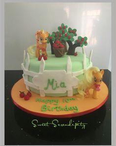 Applejack my little pony birthday cake https://www.facebook.com/sweetserendipitycakes