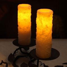 Amazon.com: DFL 1-3/4 x 6 inch Real Wax Flameless Pillar Led Candle with Timer,Battery-operated,Ivory: Home Improvement