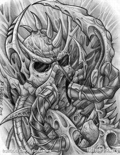 Skull Tattoo Flash | Img23176 Bio Gasmask Skulljpg