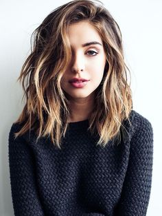 Image result for blunt long wavy lob
