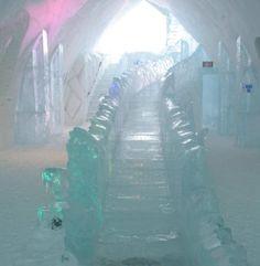 Ice Hotel Slide. Photo © Teresa Plowright