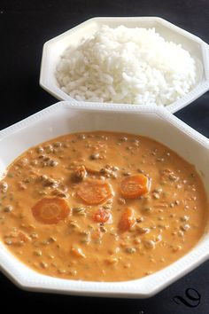 Curry de lentilles au lait de coco - The Best Thai Recipes Easy Vegetarian Curry, Vegetarian Recipes, Healthy Recipes, Healthy Drinks, Healthy Cooking, Grilling Recipes, Slow Cooker Recipes, Lentil Curry, Curry Recipes
