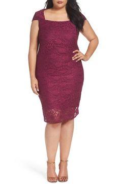 80e76d04904 Marina Lace Cocktail Dress (Plus Size)