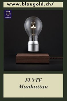 Light=Bulb Silver     Description  Floating LED light bulb Swedish real wood base Magnetic coil in the base lets the light bulb hover 15 to 17mm Light bulb receives electricity through induction. #lamp #ledbulb #idea #lightbulbart