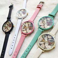 Womens Wrist Watch, Map of the World Watch, Watches for Women, Travel Map, Wanderlust, Travel Gifts,Travel Jewelry, Personalized Watch,Cute *Images are owned by Freeforme Ships Worldwide Type: Quartz Wrist Size: Adjustable from 15.87 cm to 19.05 cm (6.25 inches to 7.5 inches) Display:
