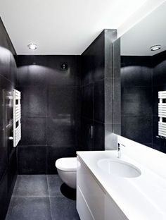 black bath room