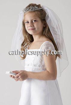 girls first communion veil from CatholicSupply.com