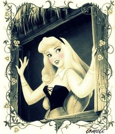 aurora. I always love Disney princesses in subdued hues and this is just beautiful.