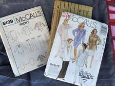 McCall's Misses Tunic Scarf Skirt Pants Sewing Pattern 5139 Plus Sizes 20 22 24 #McCalls #SewingPattern