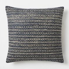 Silk Stacked Diamonds Pillow Cover - Nightshade