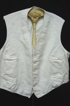 ANTIQUE VICTORIAN 1800s EDWARDIAN TOP STITCHED STUD BUTTON MEN'S VEST | eBay