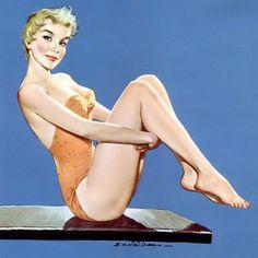 Ernest Chiriaka - June 1956 Calendar Girl. Jm.