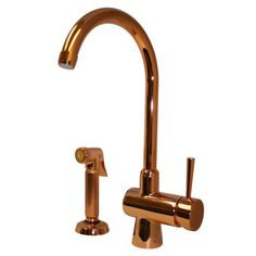 Whitehaus Collection Evolution Arcade One Handle Single Hole Kitchen Faucet with Side Spray