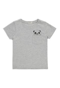 Camiseta Bolsillo Panda (Niñas)   Forever 21 Mexico
