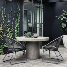 The Regent Concrete Dining Table, a sculptural addition to your outdoor or indoor space. #CocoRepublic #homeinspo #outdoor…