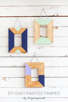 Easy Painted Frames :: Monthly DIY Challenge - brepurposed