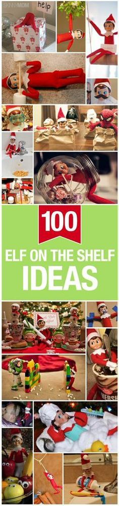 100 ways to make Elf of the Shelf a hit at your house this holiday season via Skinnymom.