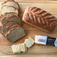 Fresh homemade bread deserves legacy collection White Oak cheddar :raised_hands: grilled cheese coming right up!!! #grilledcabot #cabotcheese #kingarthurflour