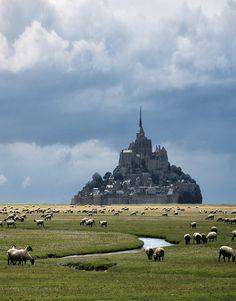 Mont Saint-Michel in Normandy, France (via Danny Vangenechten).