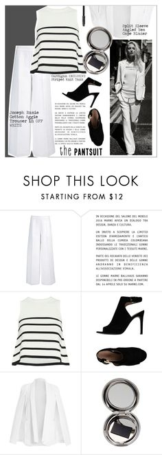 """""""The Pantsuit"""" by meyli-meyli ❤ liked on Polyvore featuring Joseph, Marni, Cardigan, Tory Burch, Chantecaille, Marc Jacobs and thepantsuit"""