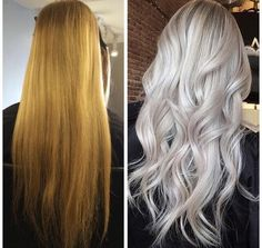 There is just one WOW makeover after another on the Instagram feed of Max Gourgues (@maxgourgues). This one really drew us in. Here the Montreal based artist shares details: -Lowlight with L'Oreal Professionnel Dia Light: 1/2 9BV + 1/2 10BV -Balayage with your favorite powder lightener with 40 volume developer -Glaze with Pravana Chromasilk Express Tones 1/2 Clear + 1/2 Violet -Process for 5 minutes. Rinse and voila!