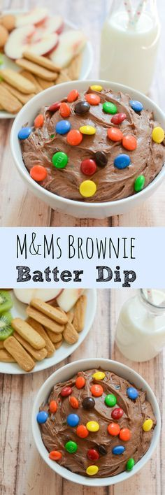 M&Ms Brownie Batter Dip - rich and delicious dessert dip! Perfect for…