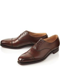Crockett and Jones Brown Hallam Leather Oxford Shoes | Men's Footwear by Crockett and Jones | Liberty.co.uk