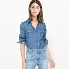 Discover our gorgeous collection of women's shirts. Whether you're after a crisp and casual denim shirt, block colour or a patterned print, you'll find it here. Mannequins, Denim Shirt, Blouse, Casual, Shirts, Color, Collection, Women, Fashion