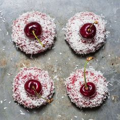 Cherry and coconut mini cakes Recipe on Food52 recipe on Food52