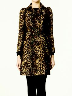 ZARA leopard print trench coat / raincoat