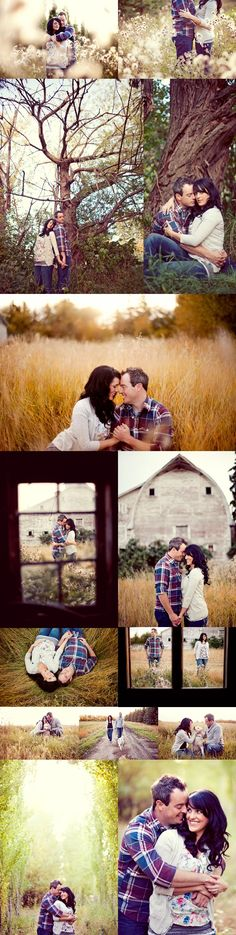 Pre- wedding engagement country photo shoot ideas.