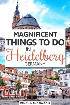 Are you planning on visiting the beautiful city of Heidelberg in the South of Germany but aren't sure what there is to do? In this guide, we share some of the top things to do in the city – plus our tips for how to make the most of your visit! Europe Destinations, Europe Travel Tips, European Travel, Places To Travel, Places To Visit, Bonn Germany, Stuttgart Germany, East Germany, New York City Guide