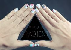Triangle Gradient Nail art