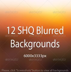 12 SHQ Blurred Backgrounds .This image is available on GraphicRiver.       Blurred Backgrounds 12 JPEG files HIGH QUALITY – 6000X3333px    GraphicRiver Details:                 Created: 6 February 14                    Graphics Files Included:   JPG Image                   High Resolution:   Yes                   Layered:   No                   Minimum Adobe CS Version:   CS                   Pixel Dimensions:   6000x3333             Tags      abstract, app, art, background, backgrounds…