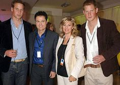 Donny and Debbie Osmond with Prince William and Prince Harry Susan Ansley here in New Zealand