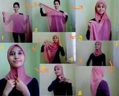 video cara pakai hijab pashmina
