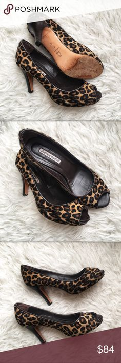 Charles David cheetah heels Excellent condition Charles David Shoes Heels