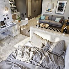 Как обустроить квартиру для двоих | Интерьер квартиры для молодой пары - фото