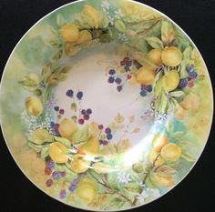 Fruit by Diana Minor - USA - Firebrickart Porcelain Ceramics, China Porcelain, Painted Porcelain, Hand Painted, Fruit Painting, China Painting, Old Plates, Beautiful Fruits, Fruit Art
