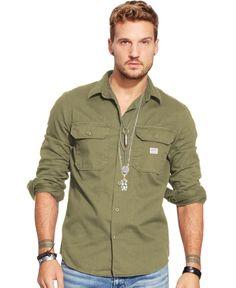 Denim & Supply Ralph Lauren Twill Military Shirt