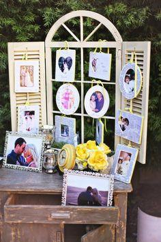 Family wedding photo display <3