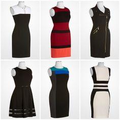 Calvin Klein Dresses #designer #deal #sheath #dress #womens #fashion #blackandwhite #red #burgundy #purple #magenta #pink #orange #black #blue #colorblock #stripe
